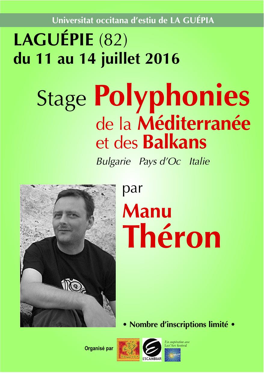 Stage Manu Théron Laguépie 2016. A5 Recto
