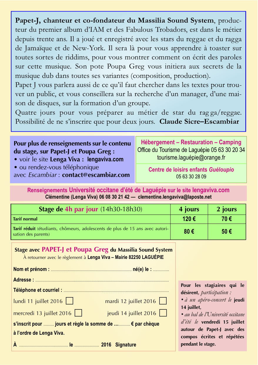 Stage Papet-J laguépie 2016 A5 Verso
