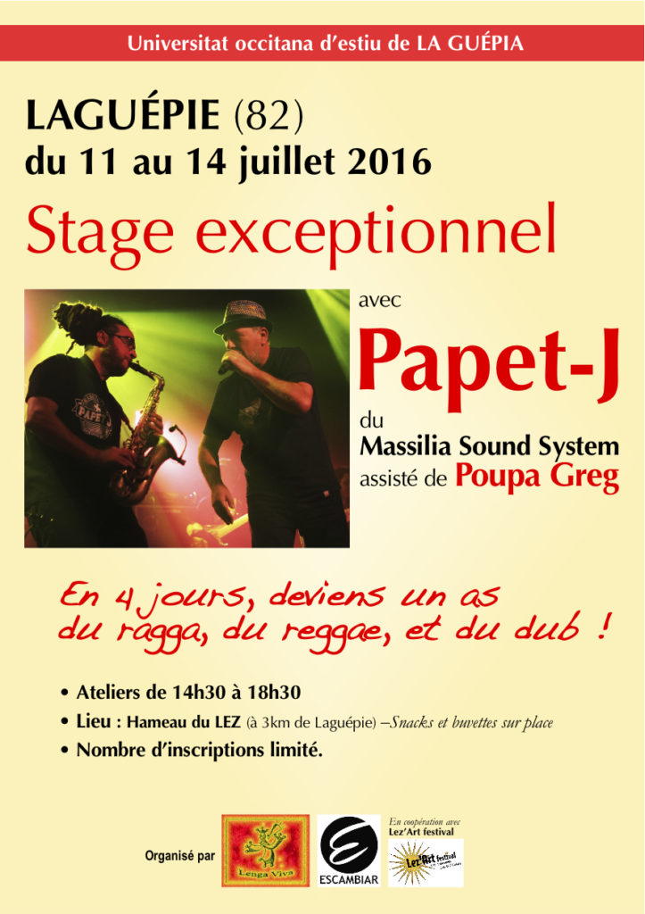Stage Papet J. / Poupa Greg 2016