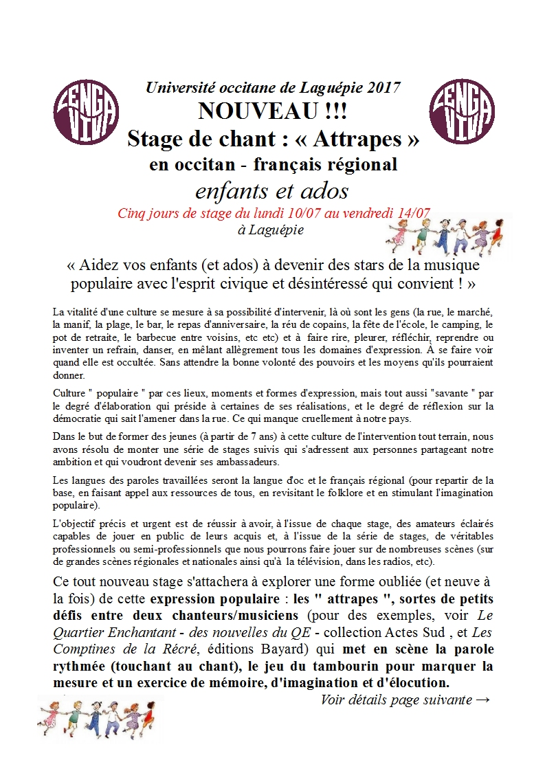 Stage Attrapes 1