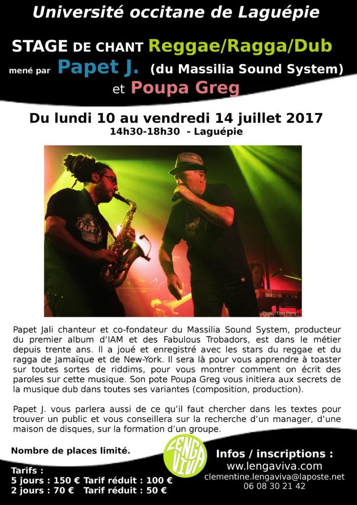 Tract Stage Papet J. Poupa Greg 2017